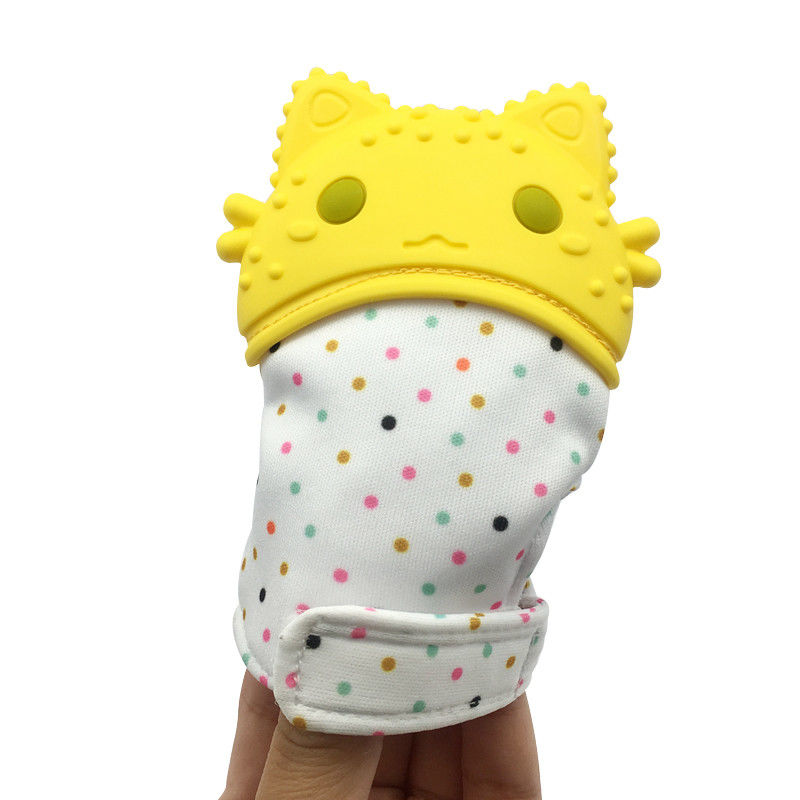 Great Best Adjustable Self-Soothing Gum Toy Teething Chewing Protecting Glove Silicone Baby Hand Teether Mitten for Pain