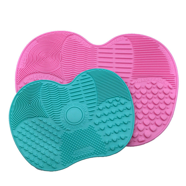Easy Cleaning Silicone Makeup Tool Mat Anti - Oxidation With Suction Cup